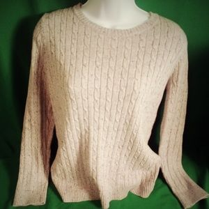 Croft and barrow gray speckled sweater